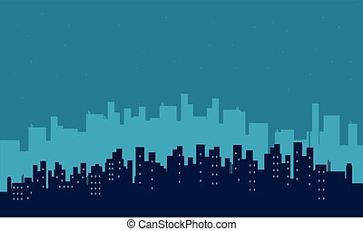 Silhouette of building scenery