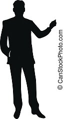silhouette of businessman standing