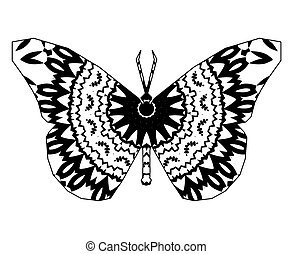 butterfly with floral mandala