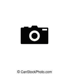 Silhouette of camera photography logo design template vector