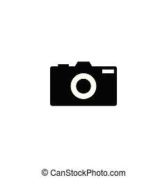 Silhouette of camera photography logo design template vector