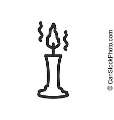 silhouette of candles on a white background