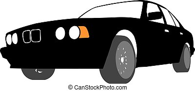 Silhouette of Car