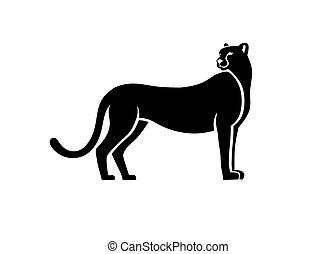 silhouette of cheetah character