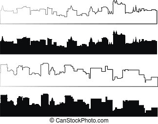 silhouette of city in black 4