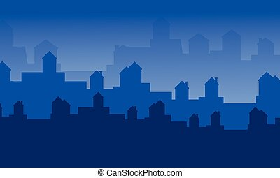 Silhouette of city landscape collection