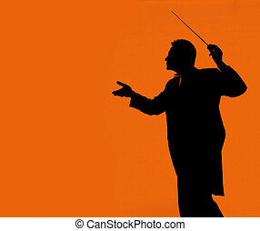 silhouette of conductor for your designs