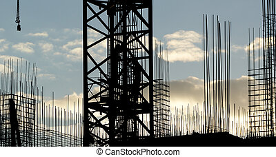 silhouette of construction worker - The silhouettes of ...