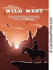 owboy on the background of the wild west.