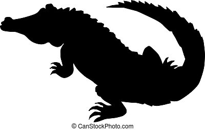 Crocodile silhouette drawing - Search Clip Art ...