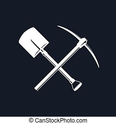 Crossed Spade and Pickaxe