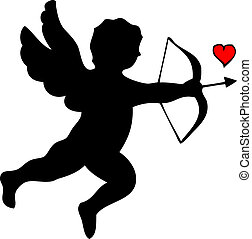 Silhouette of Cupido