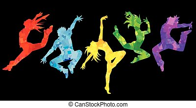 Silhouette of dancers