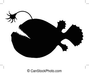 deep-sea fish - silhouette of deep-sea fish