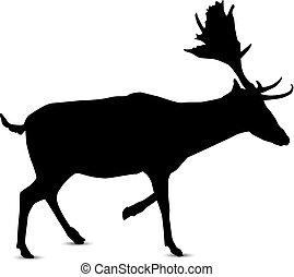 silhouette of deer silhouette of running deer