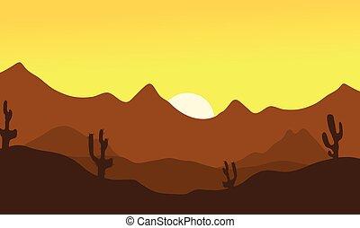 Silhouette of desert