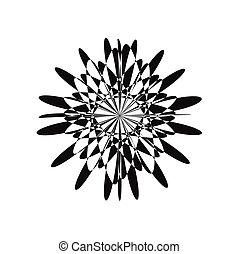 Silhouette of diamond logo design