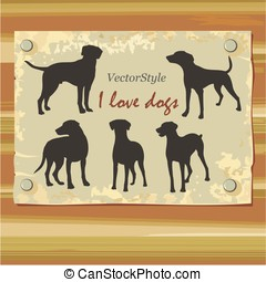 dogs in vector