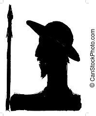 Don Quixote - silhouette of Don Quixote