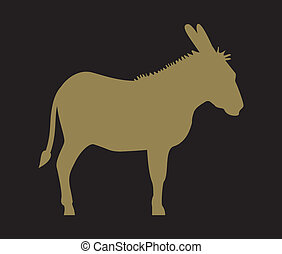 Silhouette of donkey
