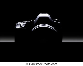Silhouette of Dslr camera.