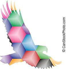 Silhouette of eagle