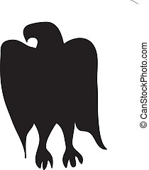 Silhouette Of Eagle On A White Background Vector