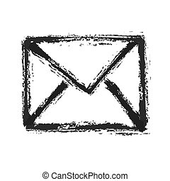 silhouette of email symbol, vector