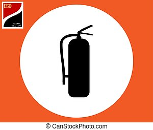 silhouette of fire extinguisher