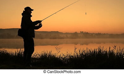 Silhouette of Fisherman