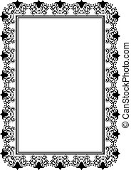 silhouette of floral frame