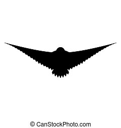 Silhouette of flying bird. Vector EPS 10.
