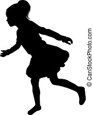 Silhouette of girl.