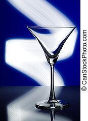 silhouette of glass in nightclub