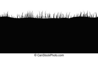 Silhouette of grass, seamless pattern. Vector illustration.