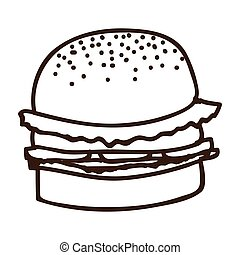 silhouette of hamburger food icon