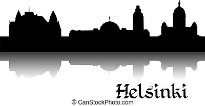 Silhouette of Helsinki - Black silhouette of Helsinki the...