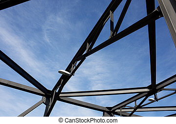 Silhouette of Iron Cove Bridge Structure - Silhouette of...