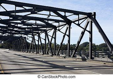 Silhouette of Iron Cove Bridge, Sydney