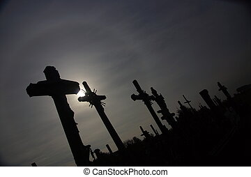 Silhouette of Jesus Christ, Hill o