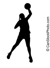 Silhouette of korfball ladies leagu
