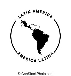 latin america map - silhouette of latin america map icon...