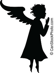Silhouette of little angel
