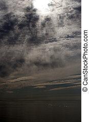 Silhouette of Lofoten islands