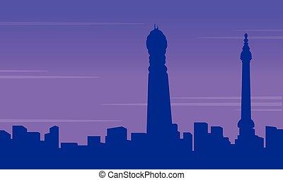 Silhouette of London building city landscape