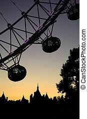 Silhouette of London Eye