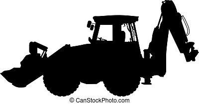 machinery - silhouette of machinery