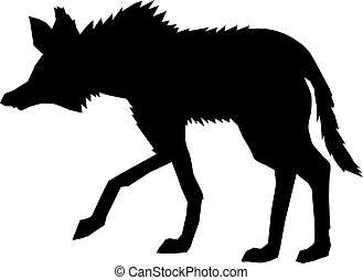 maned wolf, side view