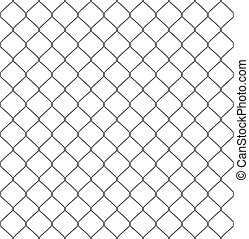 silhouette of metal wire mesh, seamless pattern