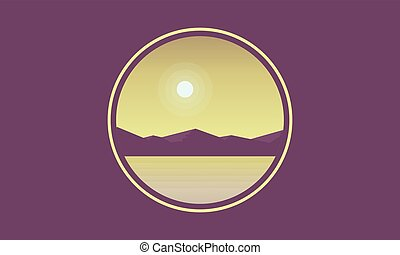 Silhouette of mountain with lake